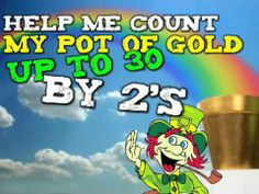 Counting With a Leprechaun (song for kids)- Counting by and by Harry Kindergarten Math Songs, Fun Songs, Kids Songs, Counting For Kids, Skip Counting, Counting Songs, School Songs, School Videos, School Stuff