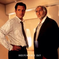 Bill Pullman and Judd Hirsch Bill Pullman Independence Day, Man In Black, My Crush, Number One, Will Smith, Movies And Tv Shows, Crushes, It Cast