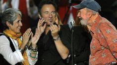 Joan Baez, Bruce Springsteen, Pete Seeger