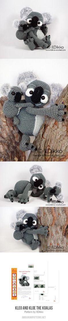 Kleo and Kloe the Koalas amigurumi pattern
