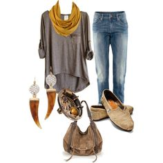 A fashion look from March 2013 featuring H&M jeans, TOMS flats and Kooba shoulder bags. Browse and shop related looks.