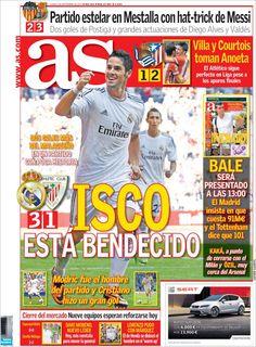 Los Titulares y Portadas de Noticias Destacadas Españolas del 2 de Septiembre de 2013 del Diario Deportivo AS ¿Que le pareció esta Portada de este Diario Español?