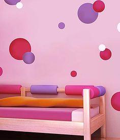 Polka Dots Stencils 3pc. kit  See more Wall Art Stencils: http://www.cuttingedgestencils.com/wall-art-stencils.html #wall #art #stencils