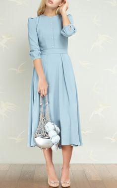 Ulyana Sergeenko SS 2017 so cute Modest Dresses, Trendy Dresses, Modest Outfits, Classy Outfits, Modest Fashion, Cute Dresses, Beautiful Dresses, Vintage Dresses, Casual Dresses