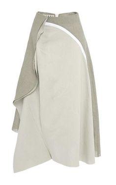 Linen canape skirt by MARNI Now Available on Moda Operandi