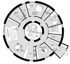 Floor Plans On Pinterest Round House Round House