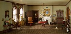 """Mrs. James Ward, Thorne miniature period rooms. """"Middletown"""" Parlor, 1875-90 