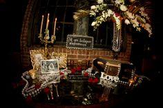 pearls,candles,speakeasy decor, Great Gatsby Decor, Ali Barone Design & Events, www.nyweddingmaven.com