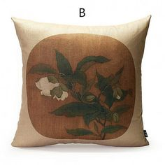 Flower pillow Chinese style decorative pillows for couch 18 inch