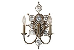 Leila 2-Light Sconce, Silver