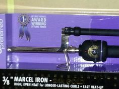 "3/8"" Pro Curling Iron 24K gold-plated Locking Marcel handle temperature control"