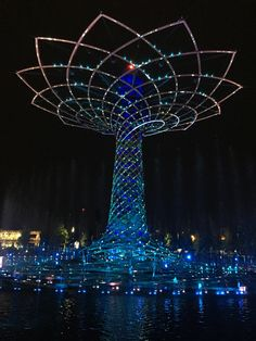 Albero della vita Expo Milano Spettacolo d'acqua a dir poco stupendo e per finire fuochi d'artificio.