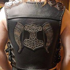 Motorcycle Vest, Biker Vest, Frankenstein, Riding Gear, Leather Pattern, Classic Leather, Natural Leather, Leather Working, Leather Backpack