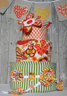 2 little hooligans: Baby Basket Cake {what's inside}