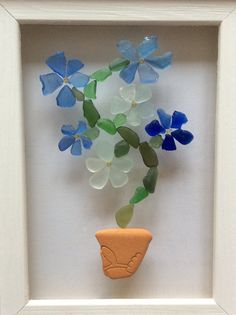 Floral suncatcher sea glass window Seaglass by ThreeLittlePirates