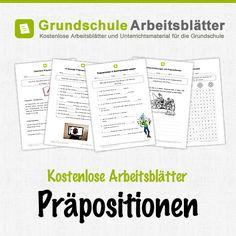 Kostenlose Arbeitsblätter und Unterrichtsmaterial für den Deutsch-Unterricht zum Thema Präpositionen in der Grundschule.