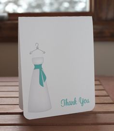 Wedding Dress Bridal Shower Thank You Card by MemorableOccasions, $30.00