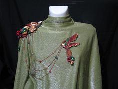 Эполет с брошью «Птица-Осень»   biser.info - всё о бисере и бисерном творчестве