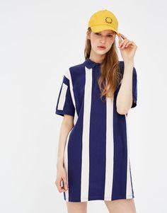 Striped polo neck dress - Dresses - Clothing - Woman - PULL&BEAR Viet Nam