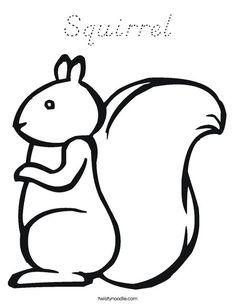 Squirrel Coloring Page - Twisty Noodle Autumn Crafts, Fall Crafts For Kids, Autumn Art, Kids Crafts, Fall Preschool, Preschool Activities, Toddler Art, Toddler Crafts, Animal Coloring Pages