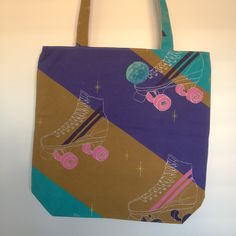 Roller Skates Shopping Bags, Fabulous Fabrics, Skates, Sewing, Pattern, Collection, Couture, Sew, Shopping Bag