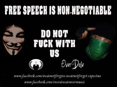 Free speech is non-negotiable | Anonymous ART of Revolution