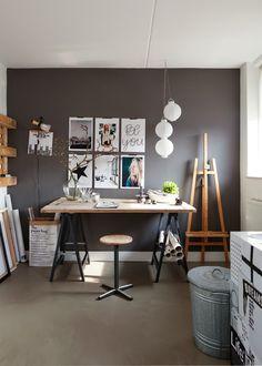 découvrir l'endroit du décor : FAIRE SOI-MÊME Home Office Space, Home Office Design, Home Office Decor, House Design, Office Ideas, Workspace Design, Office Spaces, Small Office, Work Desk Decor