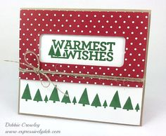 Christmas in July and Stampin' Up!'s new holiday stamp set, Christmas Bliss. It's photopolymer and lots of fun. More details at http://www.expressivelydeb.com/expressivelydeb/2014/07/christmas-in-july.html