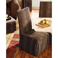 HomePop Leopard Parsons Chairs Set Of 2 By HomePop