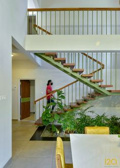 A Residence Designed In Kerala Encompassing Balanced Play Of Geometric Forms | i2a Architects Studio - The Architects Diary Brown Roofs, Internal Courtyard, Geometric Form, Minimalist Furniture, Polished Concrete, Architectural Features, Formal Living Rooms, Kerala, Home Projects