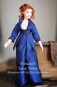 Tarun nuket - Miniature dolls by Taru Astikainen Tiny Dolls, Hermione, Miniature Dolls, Titanic, Miniatures, Disney Princess, Dresses, House, Fashion