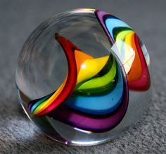 What an epic and imbedded rainbow. I hope to find a marble like this some day! (Marble Rainbow by Mattzcoz) Taste The Rainbow, Over The Rainbow, Art Beauté, Op Art, Glass Marbles, Glass Paperweights, World Of Color, Glass Ball, Colored Glass