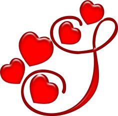 Oh my Alfabetos!: Alfabeto rojo con corazones.