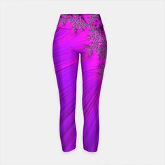 Printed Yoga Pants, Workout Wear, Comfy, Purple, Stylish, How To Wear, Fashion, Moda, Fashion Styles