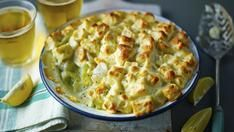 Mary Berry's Fish pie with soufflé crouton topping