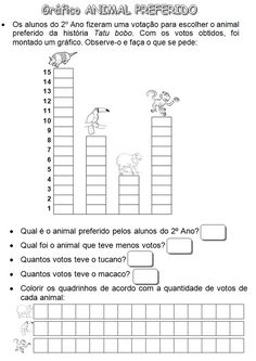 ATIVIDADES PARA EDUCADORES: 1º Ano - Trabalhando com gráficos Back To School, Activities For Kids, Diagram, Animal, Maths, Animal Activities, Charts And Graphs, Math Charts, Geography Activities