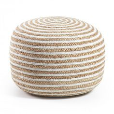 Buy Samy Pouf from Kave. The Samy Pouf is a beanbag made of jute. Jute, both natural and fashionable, helps us connect with Earth and nature. The cover . Beach Room Decor, Beach House Decor, Diy Home Decor, Bedroom Decor, Seaside Decor, Jute, Pouf Design, Dining Room Design, My New Room