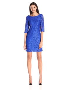 Ivanka Trump Women's Elbow-Sleeve Lace Dress * Quickly view this special  product, click the image : Women's dresses