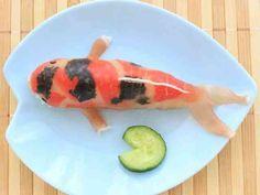 生ハム錦鯉★ニシキゴイ★サラダ&おにぎりの画像