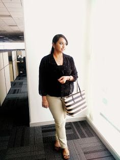 OOTD: Simple Work Wear: OOTD: Black & Beige