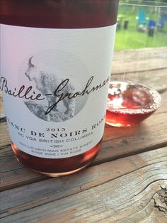 One of the Creston-Valley wineries, Baillie Grohman makes tasty BC Wine like this plush, strawberry jam and spice Blanc de Noirs