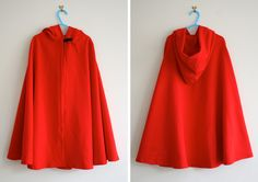 DIY red riding hood cloak & dress pattern - quite like this one too.