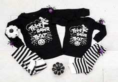 Trick Rawr Treat Black and White Striped Pajamas - Halloween Pajamas - Halloween Clothing by TwinkleTwinkleTees on Etsy Halloween Pregnancy Shirt, Halloween Pajamas, Pregnant Halloween, Pregnancy Shirts, Baby Shirts, Halloween Outfits, Kids Shirts, Mommy And Son, Mommy And Me Shirt