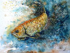 Golden Arowana Painting
