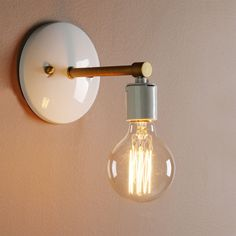 VINTAGE INDUSTRIAL SCONCE GLOBE BULB LOFT WALL LAMP ANTIQUE HOLDER WALL LIGHT