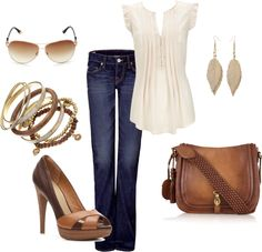 Brown and Cream - Polyvore