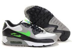 Nike Air Max 90 Herren Schuhe Grün/Schwarz/Weiß/Grau