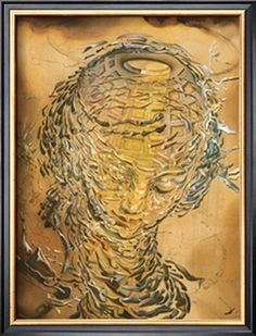 Raphaelesque Head Exploded Giclee Print by Salvador Dalí