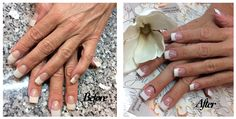 Before & After French Nails by Anthony French Manicures, French Nails, Top Nail, Nail Tech, French Tips