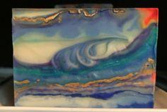 Hang ten lemon Shea silk handmade soap art